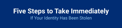 Five Steps to Take Immediately If Your Identity Has Been Stolen
