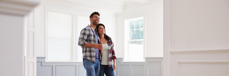 A couple inside their home