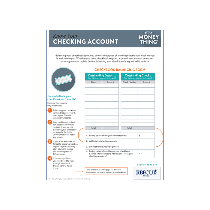 THUMB-Handout-15-IAMT-Know-Your-Checking-Account