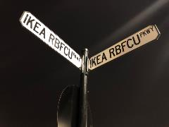 Street sign for IKEA-RBFCU-Parkway